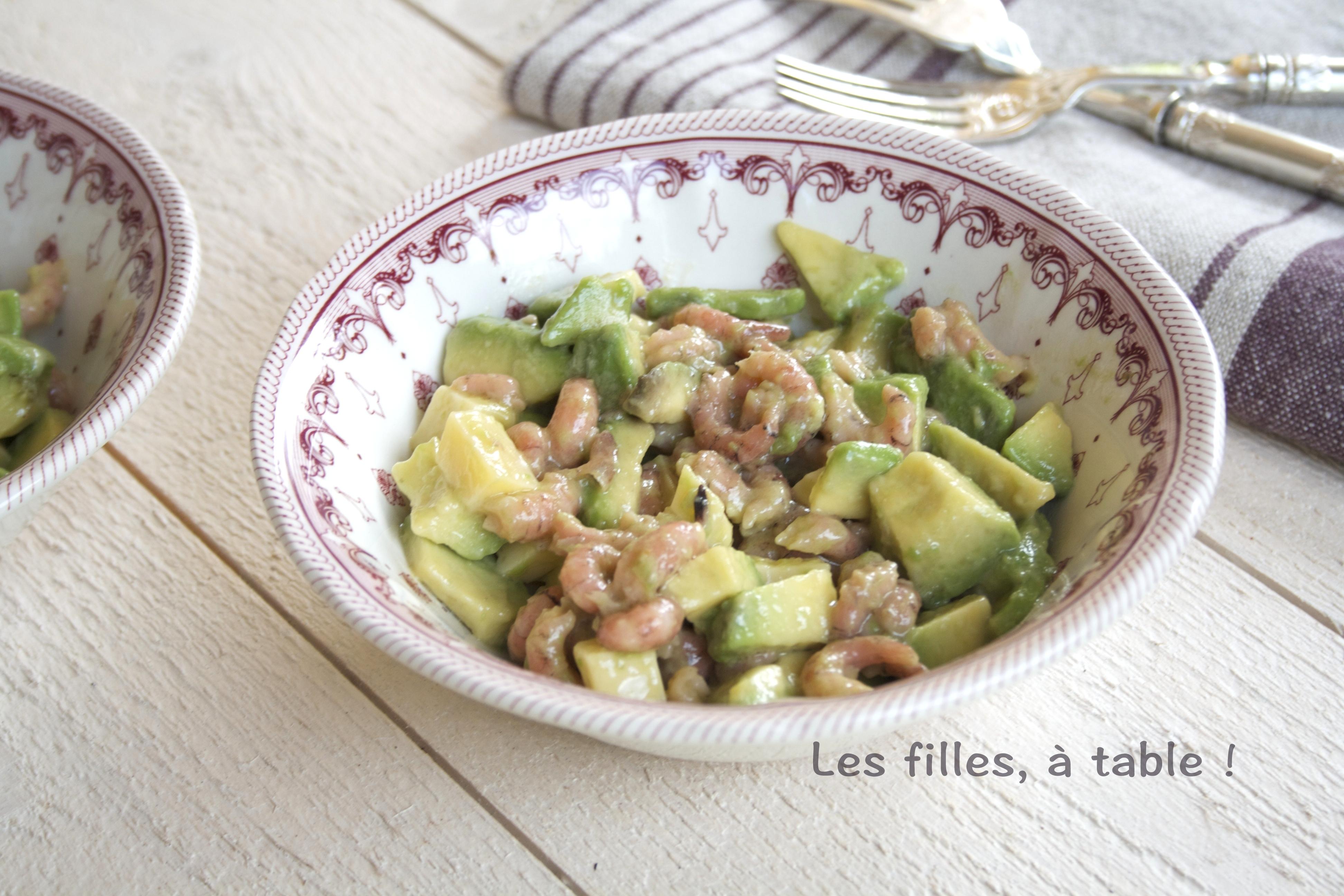 Salade D Avocats Et Crevettes Grises Les Filles A Table