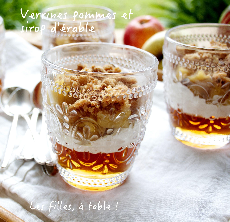 Parfait Aux Pommes Et Au Sirop D érable: Verrines De Pommes, Crumble Et Gelée De Sirop D'érable