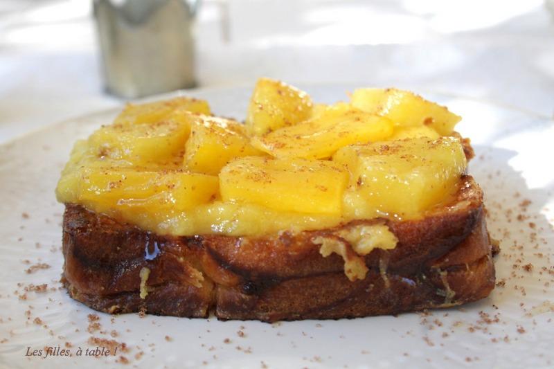 pain perdu ananas les filles a table