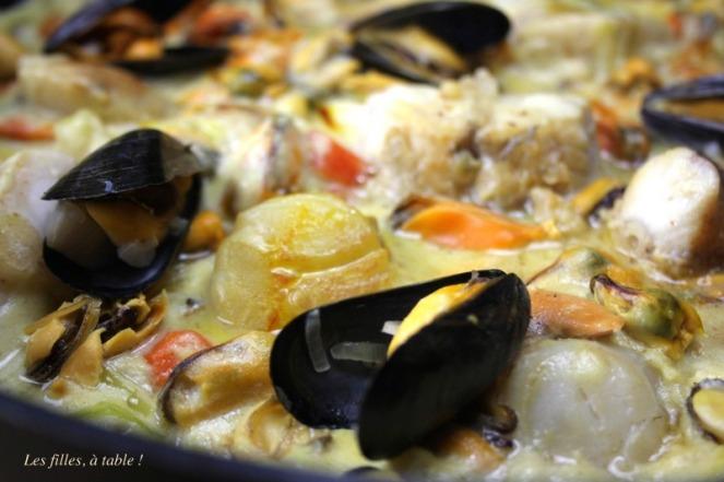 blanquette poisson moules de la mer les filles à table