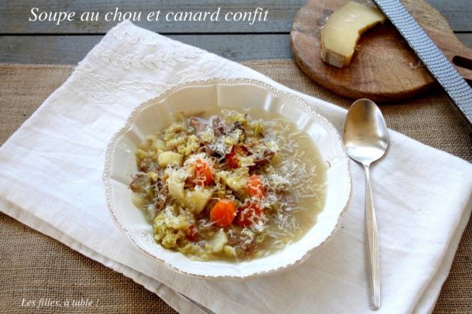 soupe au chou et confit de canard