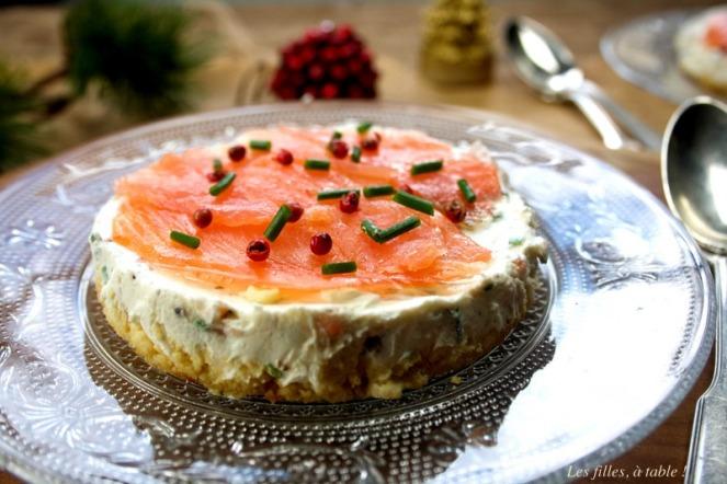 cheesecake saumon fumé les filles à table