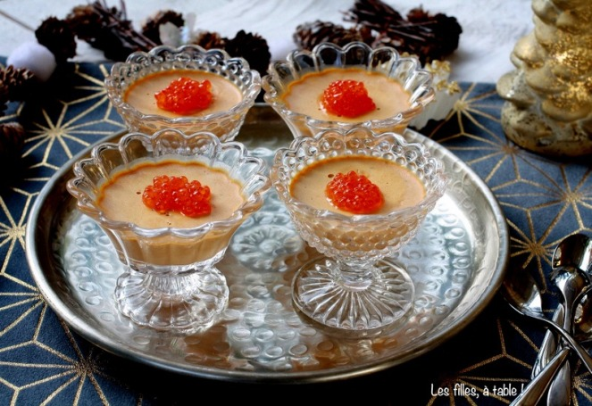 panna cotta corail d'oursin noël les filles à table