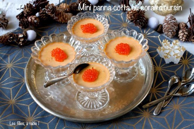 panna cotta corail d'oursin noël les filles à table