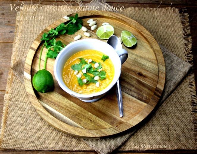 soupe carottes patates douces coco les filles à table