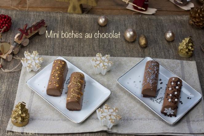 bûche mini bûche chocolat praliné les filles à table