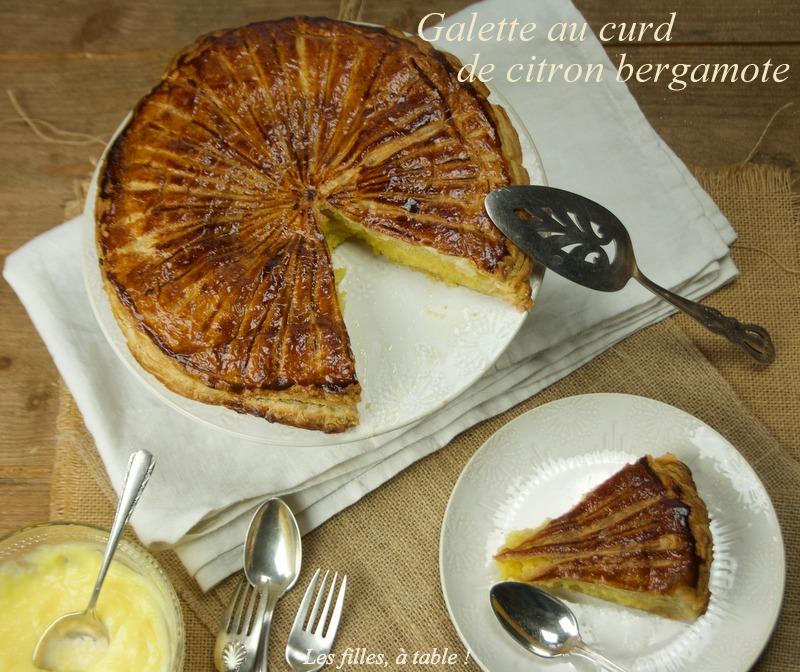 galette curd citron bergamote, les filles à table