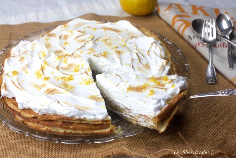 gâteau, crêpes, citron bergamote, les filles à table