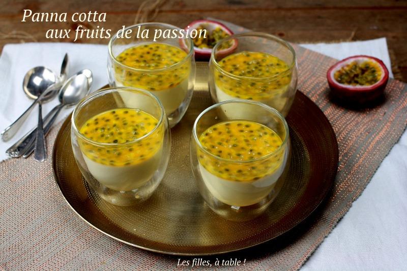 panna cotta, fruits de la passion, crème coco, les filles à table
