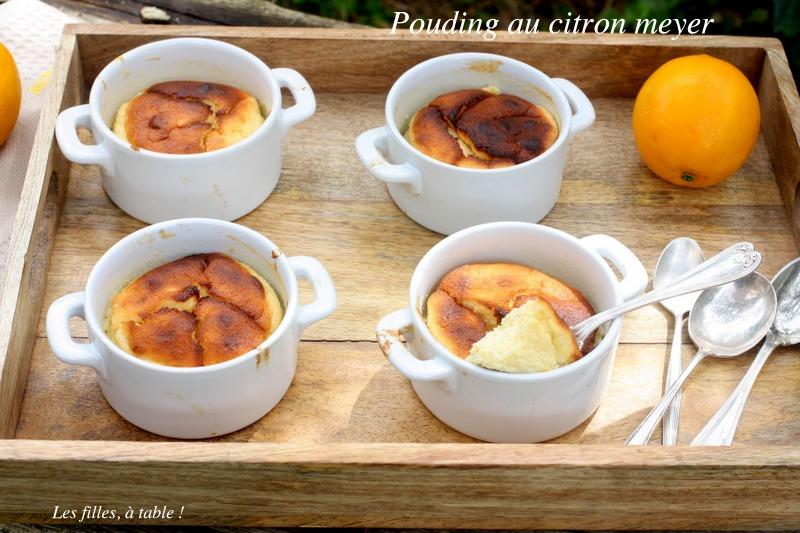 pouding, pudding, citron, citron meyer, les filles à table
