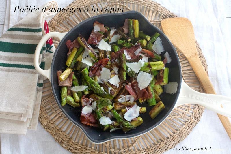asperges, coppa, pecorino romano, les filles à table