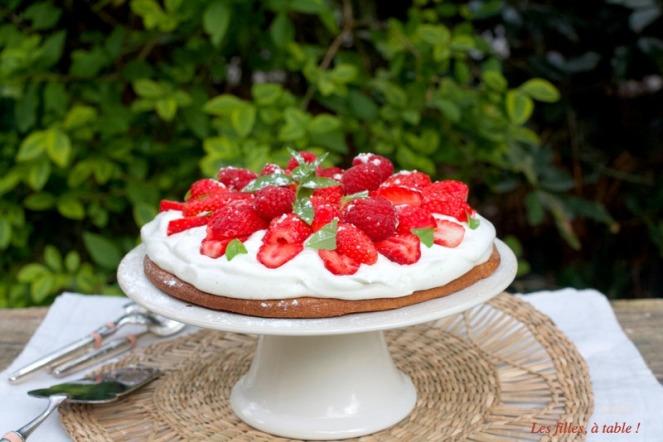 tarte, tarte aux fraises, fraises, sablé breton, les filles à table