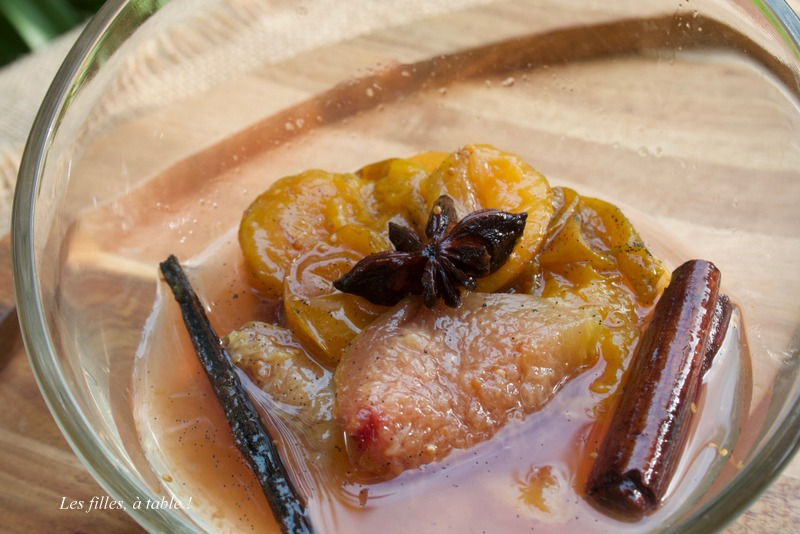 figues, prunes, les filles à table