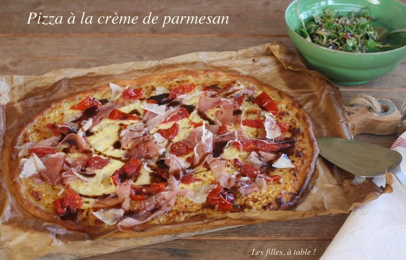 pizza à la crème de parmesan