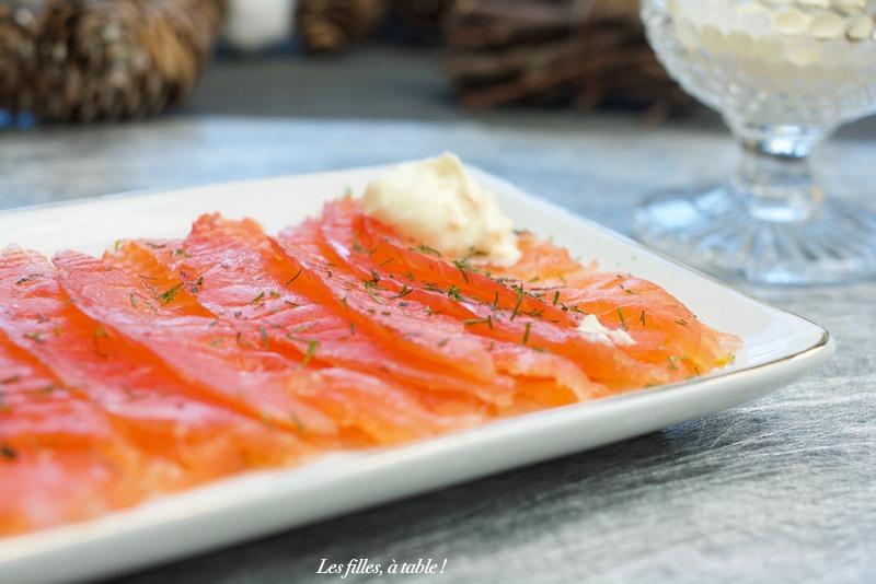 saumon gravlax miel et orange