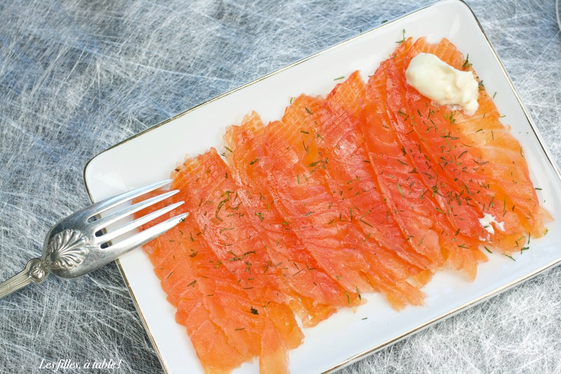 saumon gravlax miel et orange
