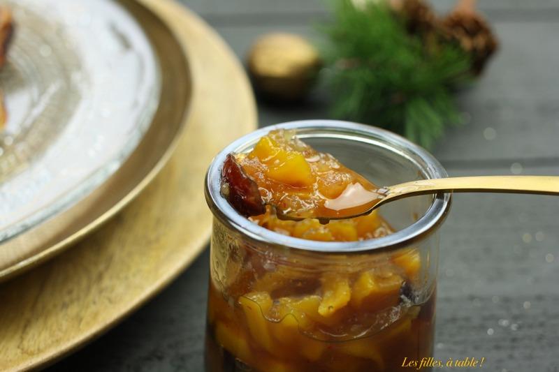 tartelettes au boudin blanc et chutney de mangue