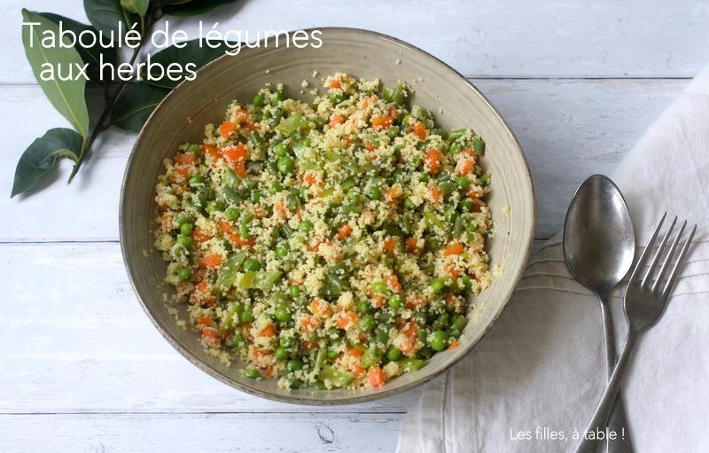 Taboulé de légumes aux herbes CAP