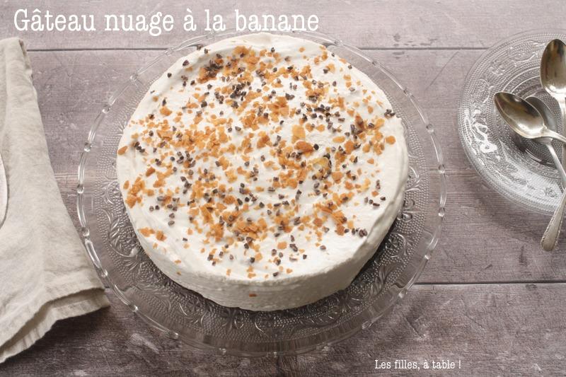Gâteau nuage glacé à la banane