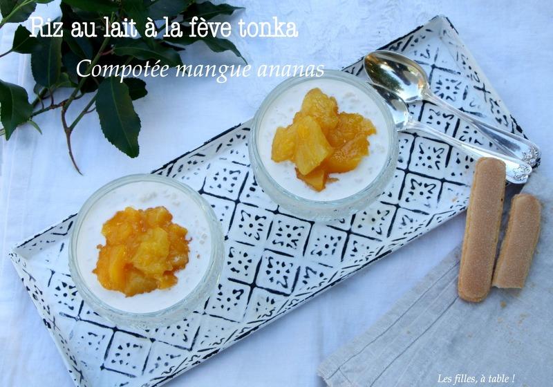 Riz au lait à la fève tonka (façon Hélène Darroze)