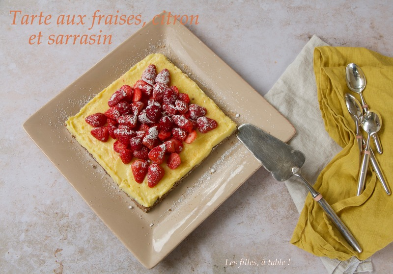 Tarte citron et fraises au sarrasin