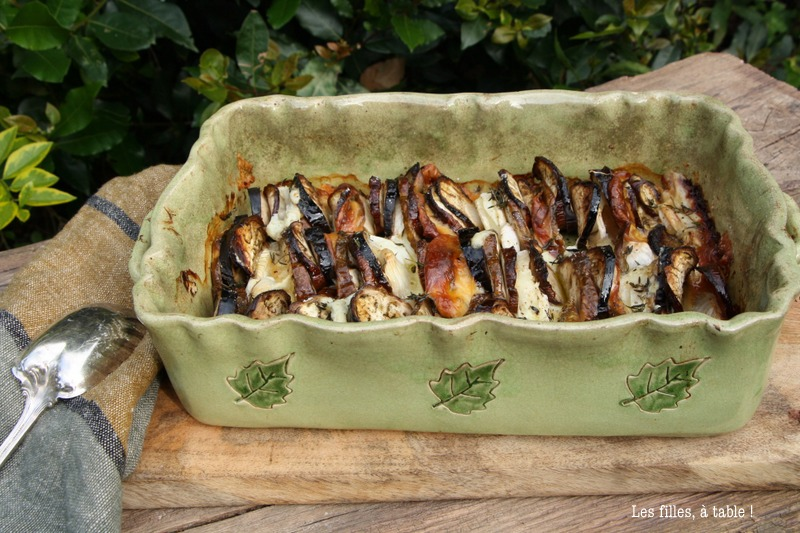 Tian aubergines mozzarella et scamorza