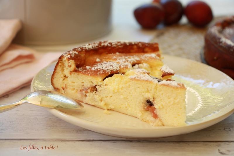 Gâteau au fromage blanc et prunes d'Ente