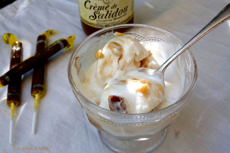 Glace vanille au caramel