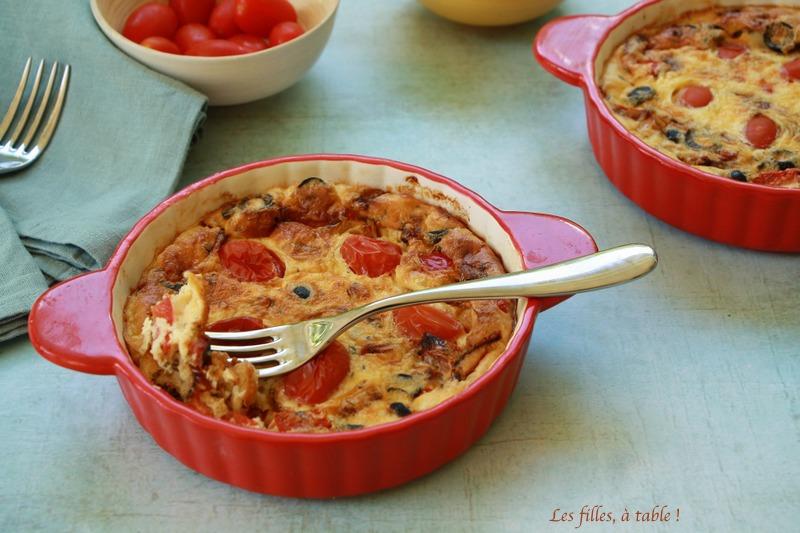 Clafoutis aux tomates cerise et poivrons