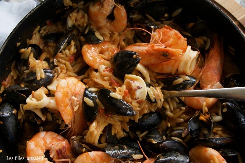 Kritharaki aux fruits de mer