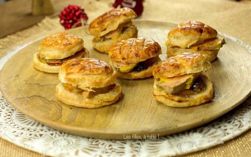 Mini-galettes des rois au foie gras