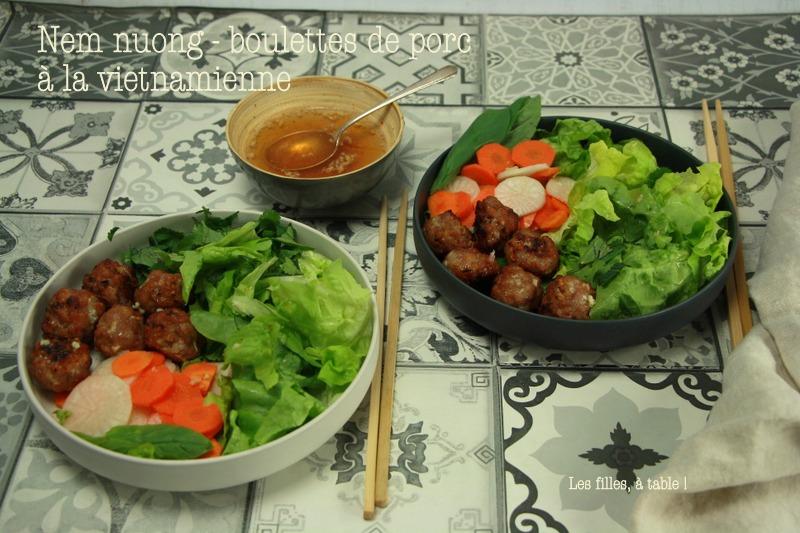 Nem nuong - boulettes de porc à la vietnamienne