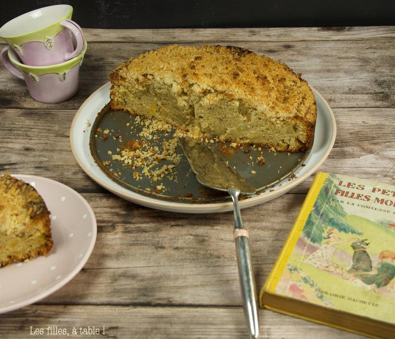 Gâteau crumble pommes poires Yotam Ottolenghi