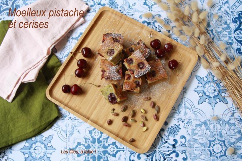 Moelleux aux cerises et pistache
