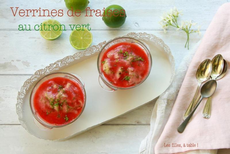 Verrines de fraises au citron vert