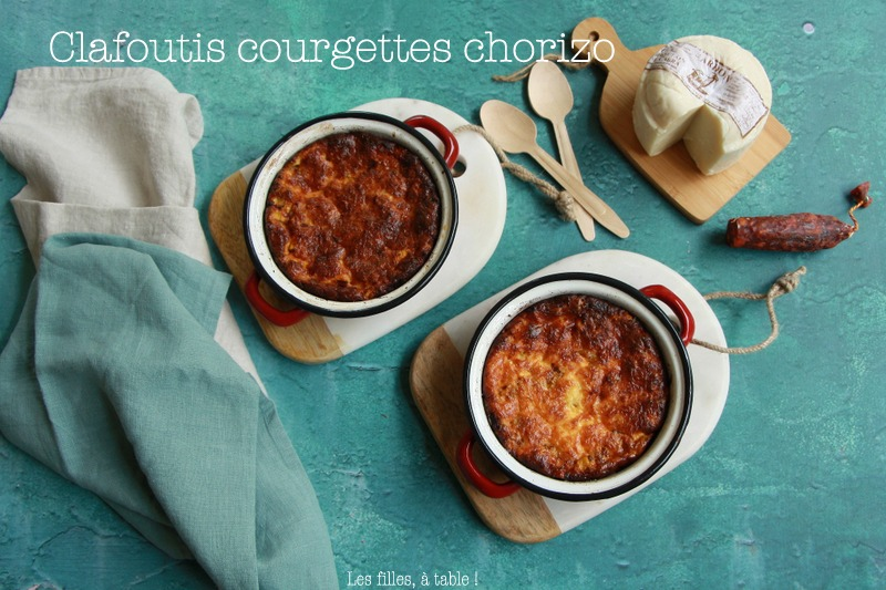 Clafoutis aux courgettes et chorizo