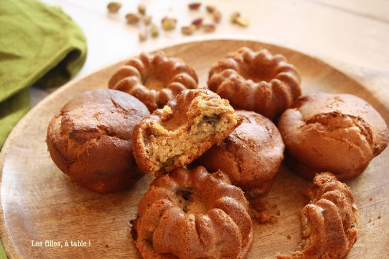Muffins aux figues et pistaches